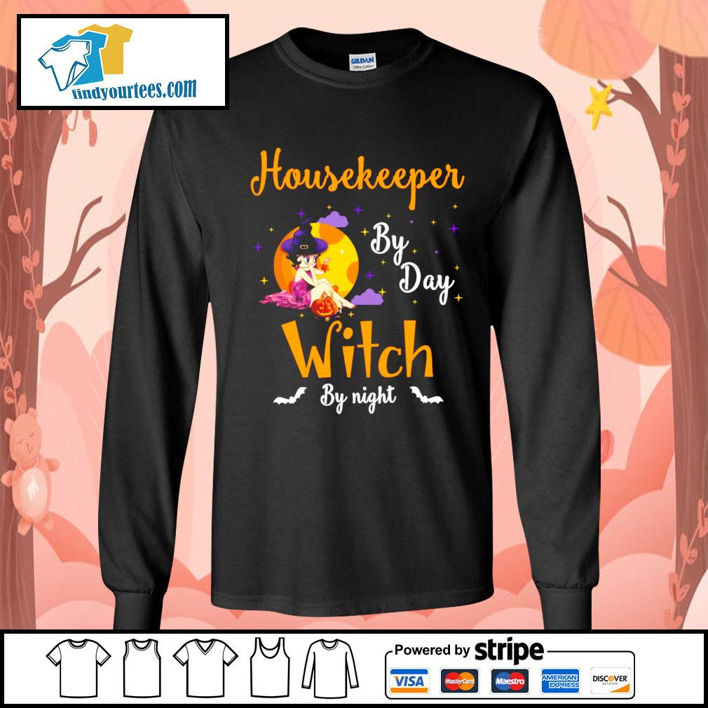 Housekeeper by day witch by night s Long-Sleeves-Tee