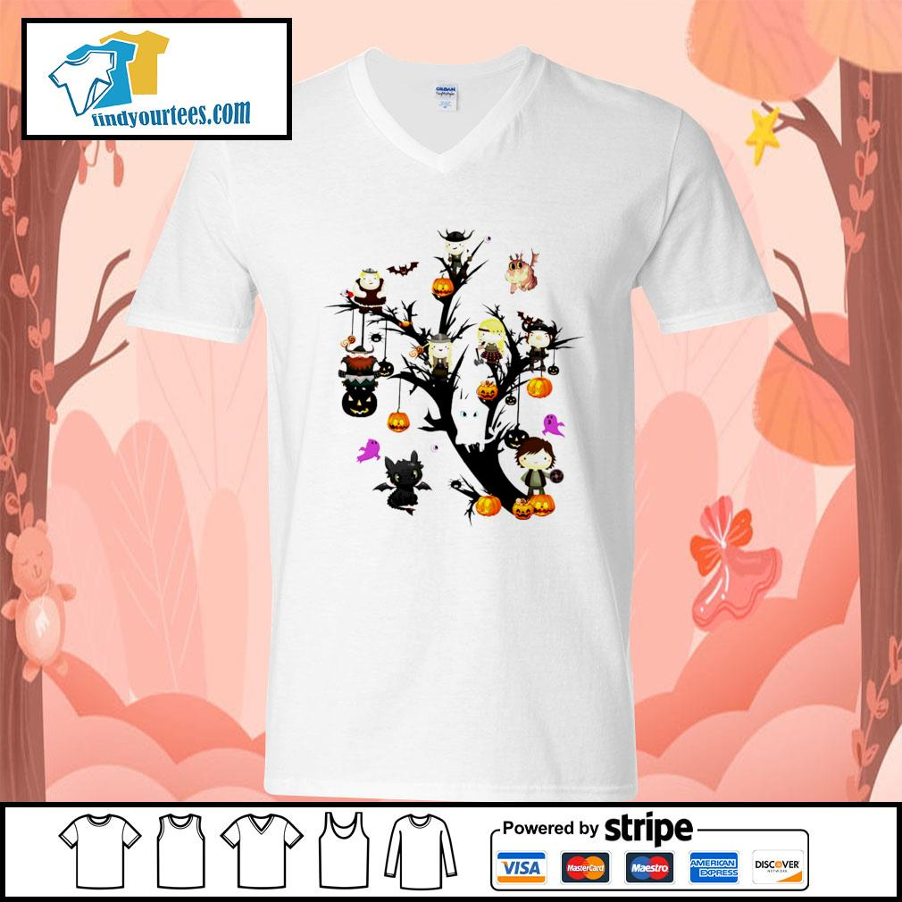 How to Train Your Dragon tree Halloween s V-neck-T-shirt