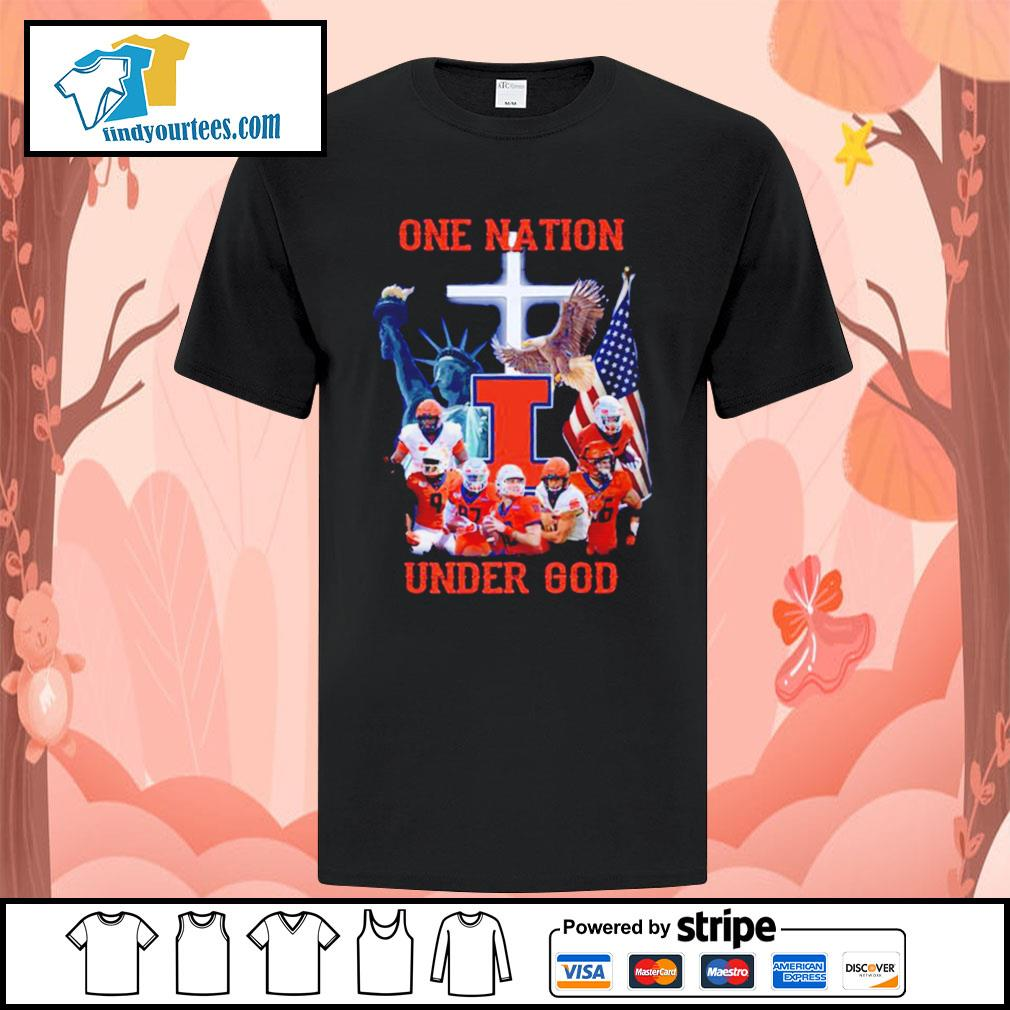 Illinois Fighting Illini one nation under god shirt