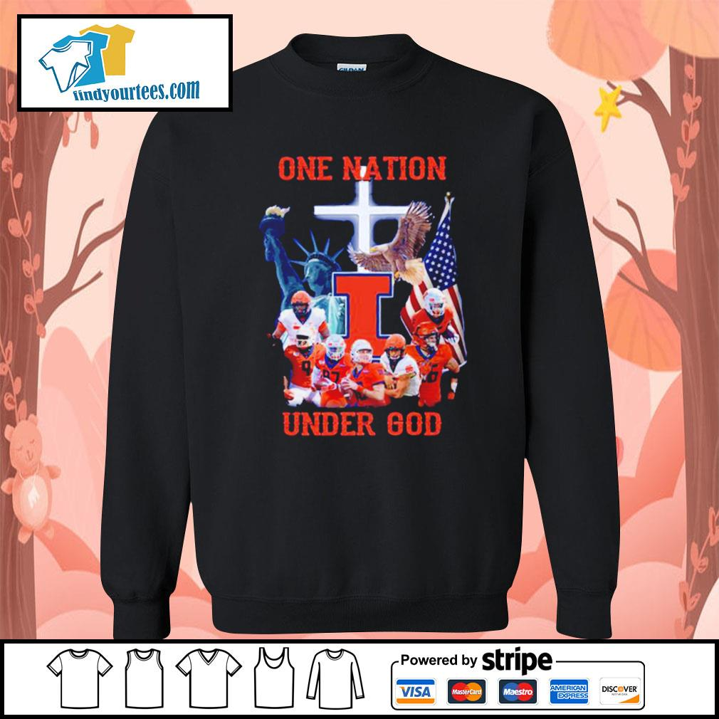 Illinois Fighting Illini one nation under god s Sweater