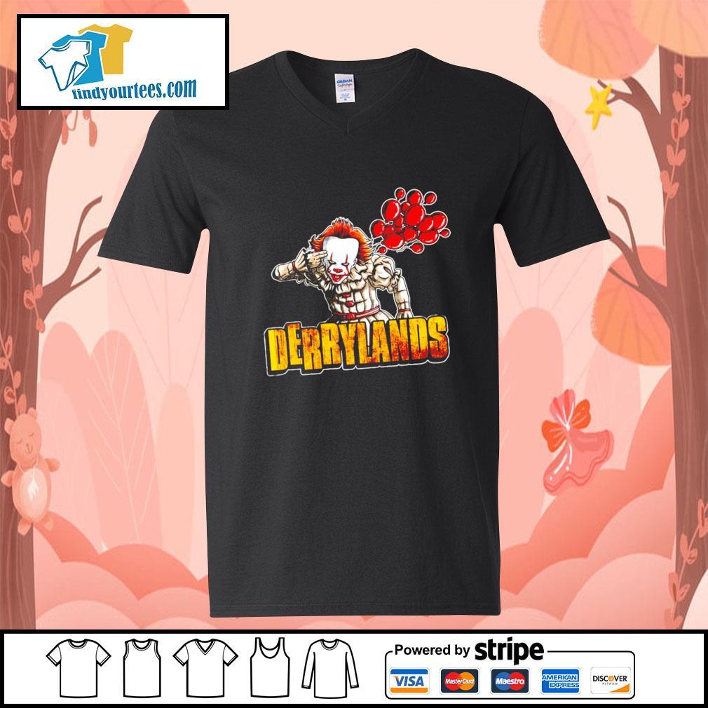 IT Pennywise Derrylands Halloween s V-neck-T-shirt