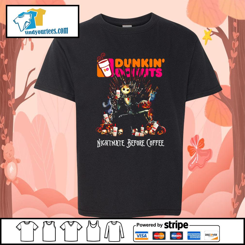 Jack Skellington King Nightmare before Coffee Dunkin' Donuts s Kid-T-shirt