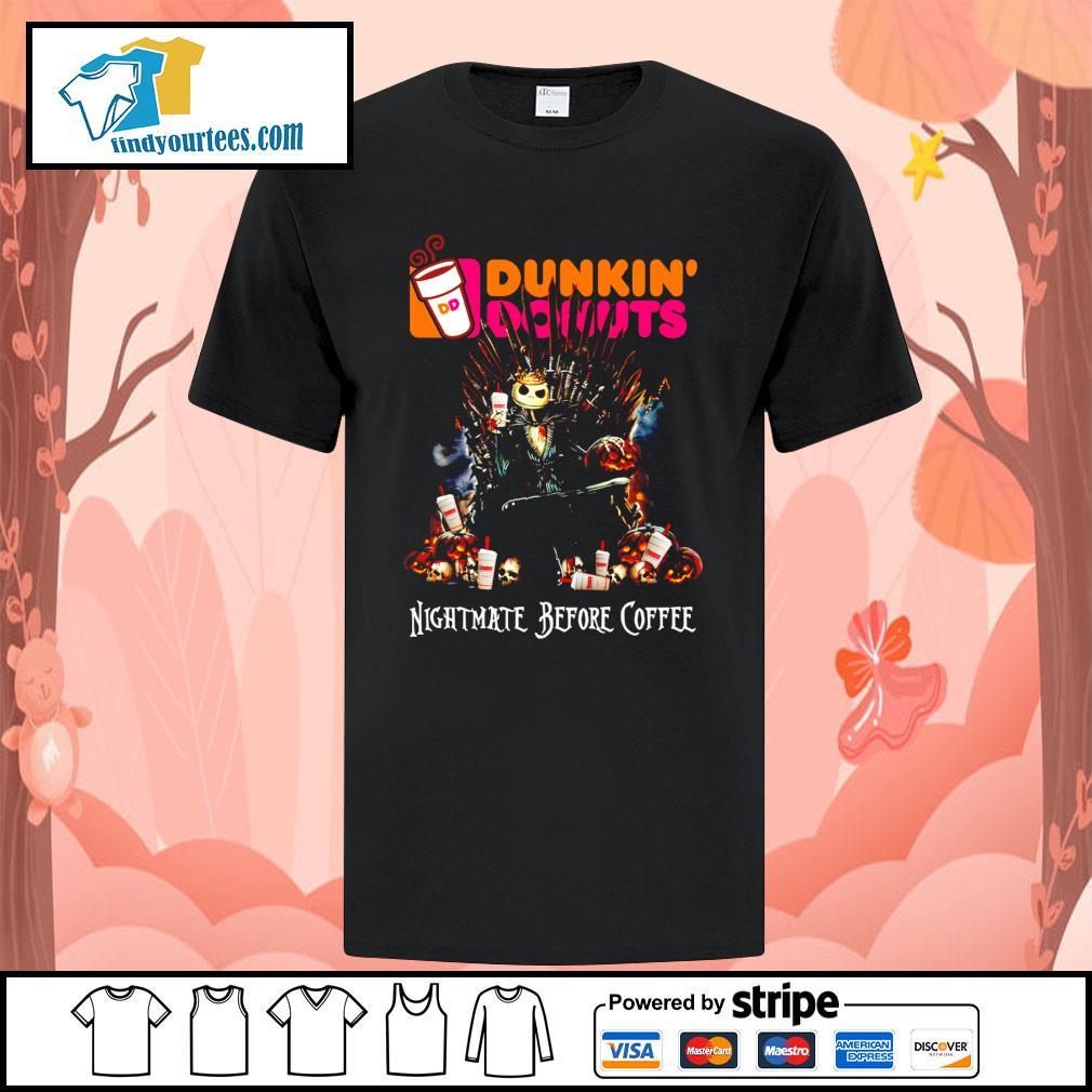 Jack Skellington King Nightmare before Coffee Dunkin' Donuts shirt