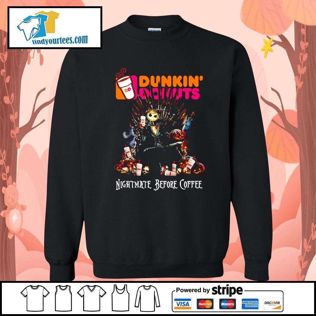 Jack Skellington King Nightmare before Coffee Dunkin' Donuts s Sweater