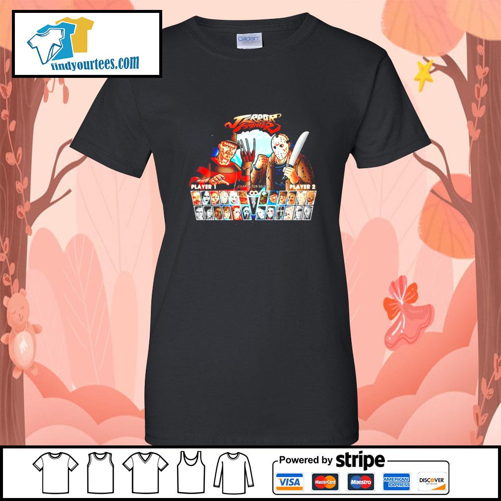 Jason Voorhees and Freddy Krueger Terror fighter s Ladies-Tee