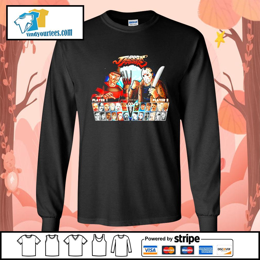 Jason Voorhees and Freddy Krueger Terror fighter s Long-Sleeves-Tee