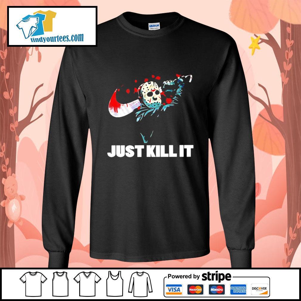 Jason Voorhees just kill it Nike Halloween s Long-Sleeves-Tee