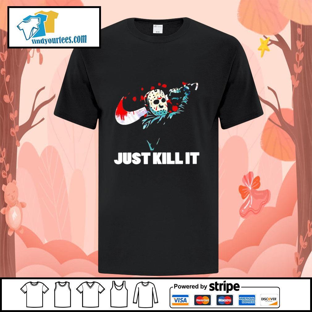 Jason Voorhees just kill it Nike Halloween shirt