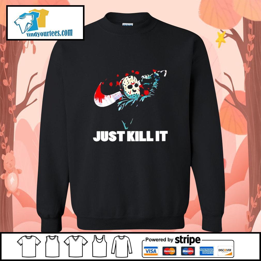 Jason Voorhees just kill it Nike Halloween s Sweater