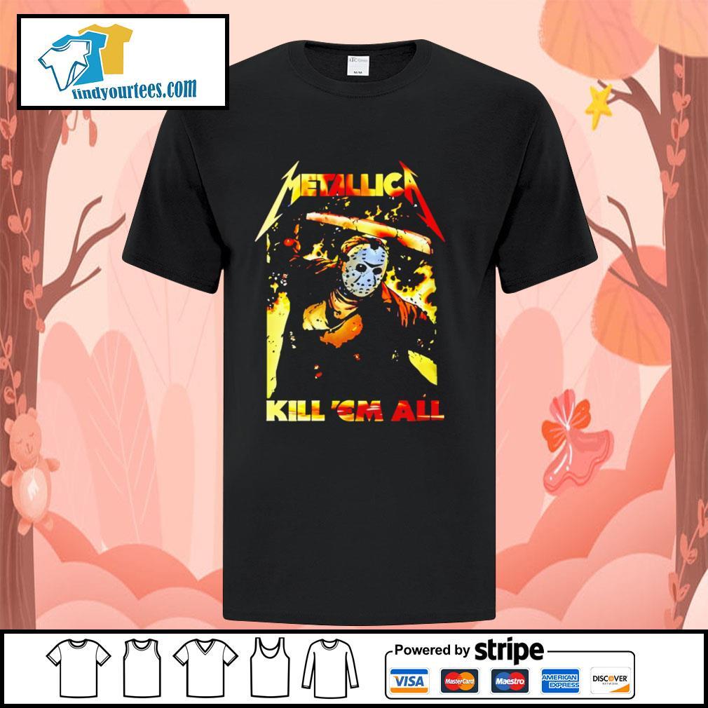 Jason Voorhees Metallica kill 'em all shirt