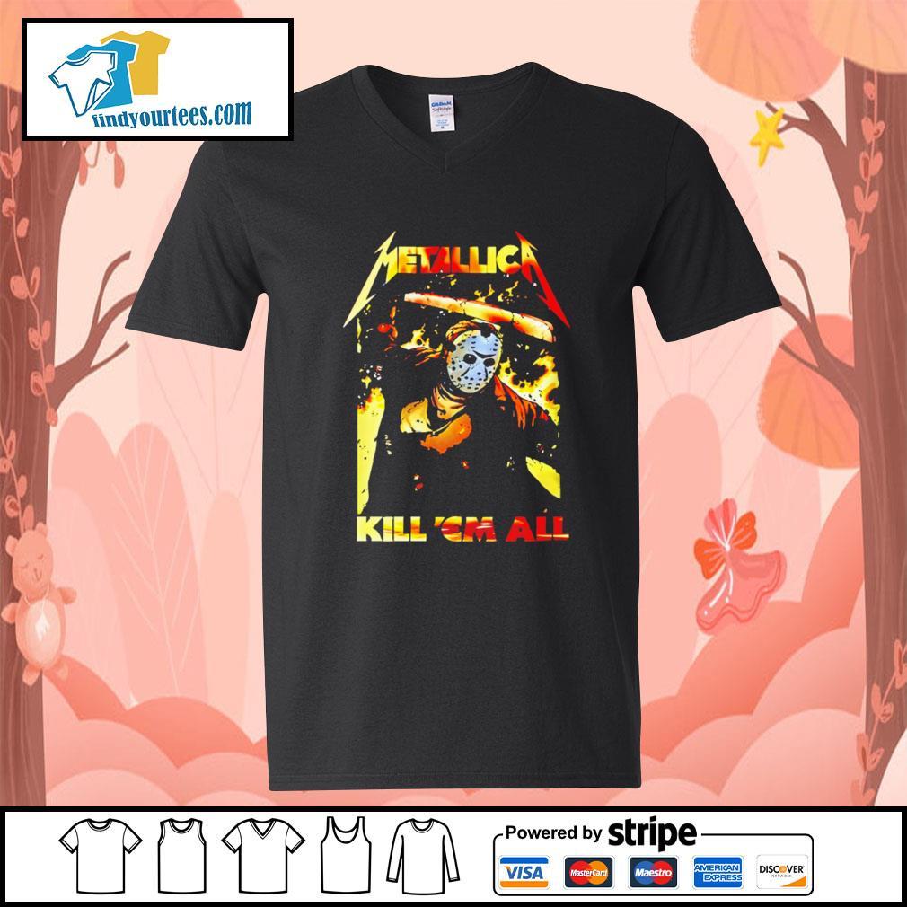 Jason Voorhees Metallica kill 'em all s V-neck-T-shirt