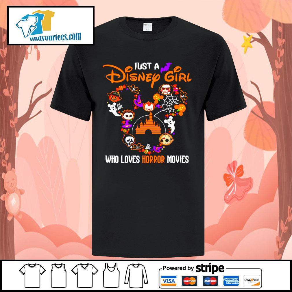 Just a Disney mouse girl who loves Horror movies Halloween shirt