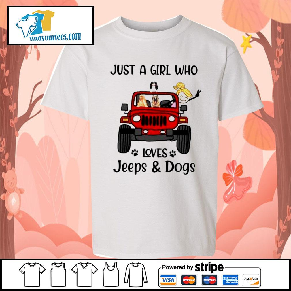 Just a girl who loves Jeeps and Dogs s Kid-T-shirt