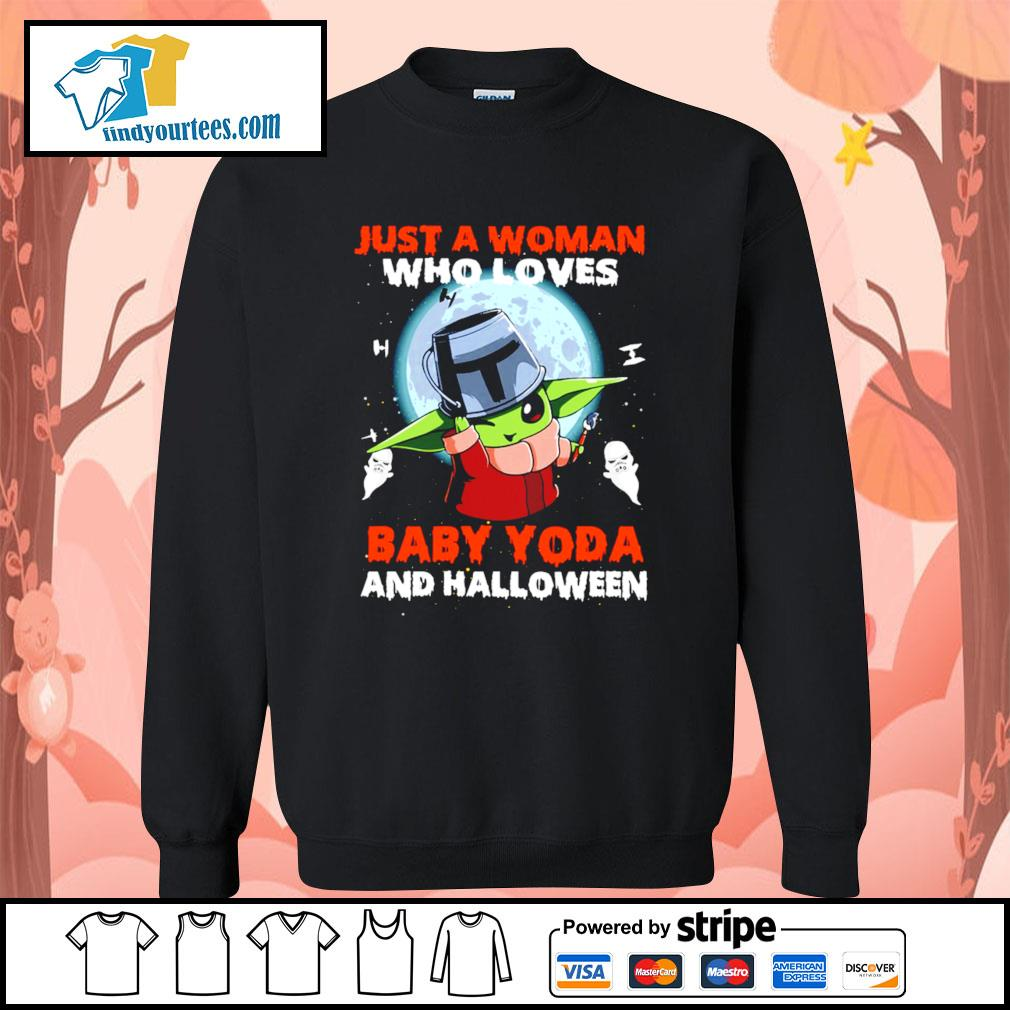 Just a woman who loves Baby Yoda and Halloween s Sweater