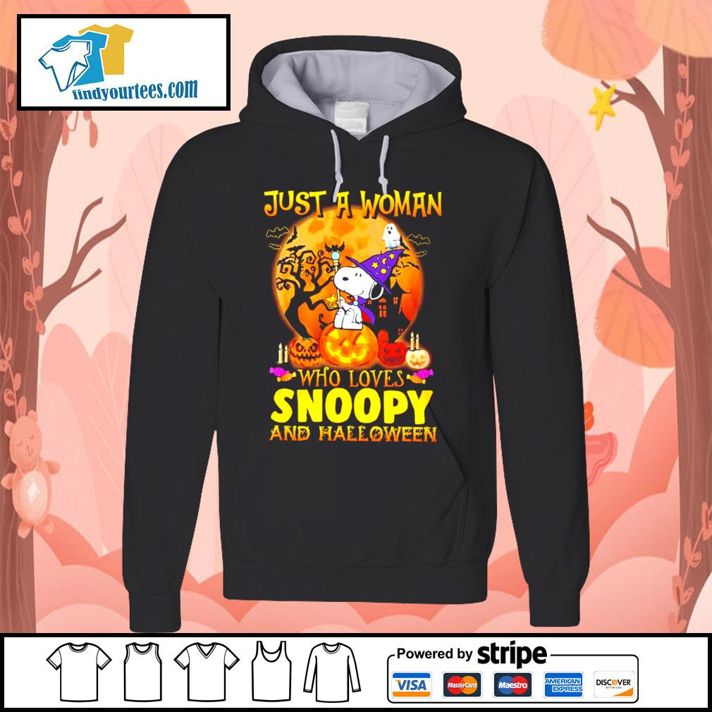 Just a woman who loves Snoopy and Halloween s Hoodie