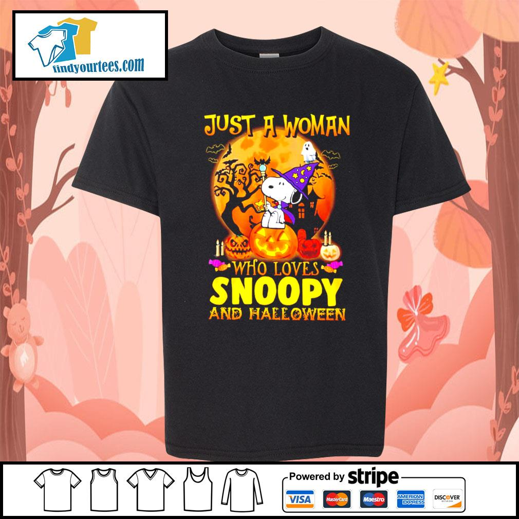 Just a woman who loves Snoopy and Halloween s Kid-T-shirt