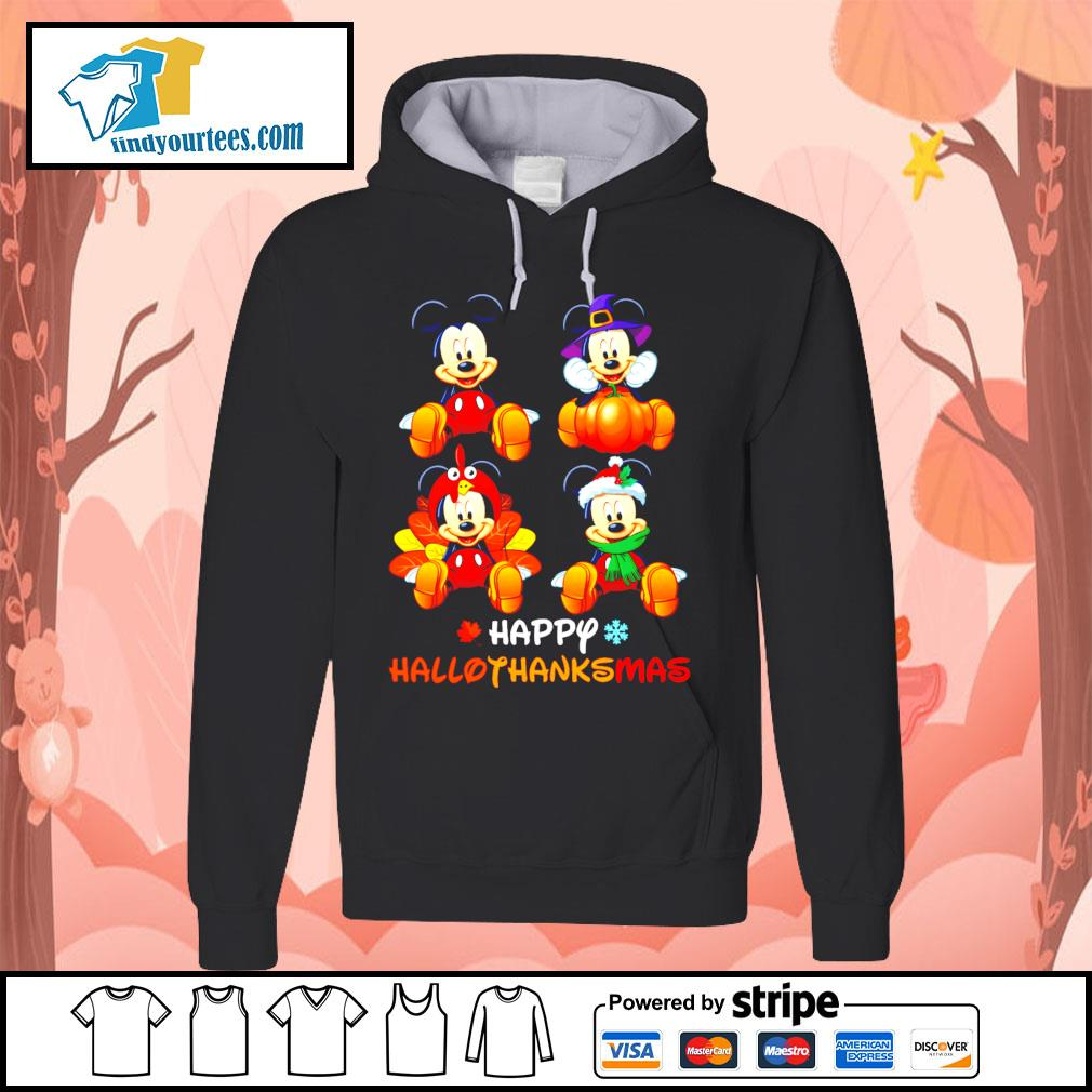 Mickey happy Hallothanksmas Halloween s Hoodie