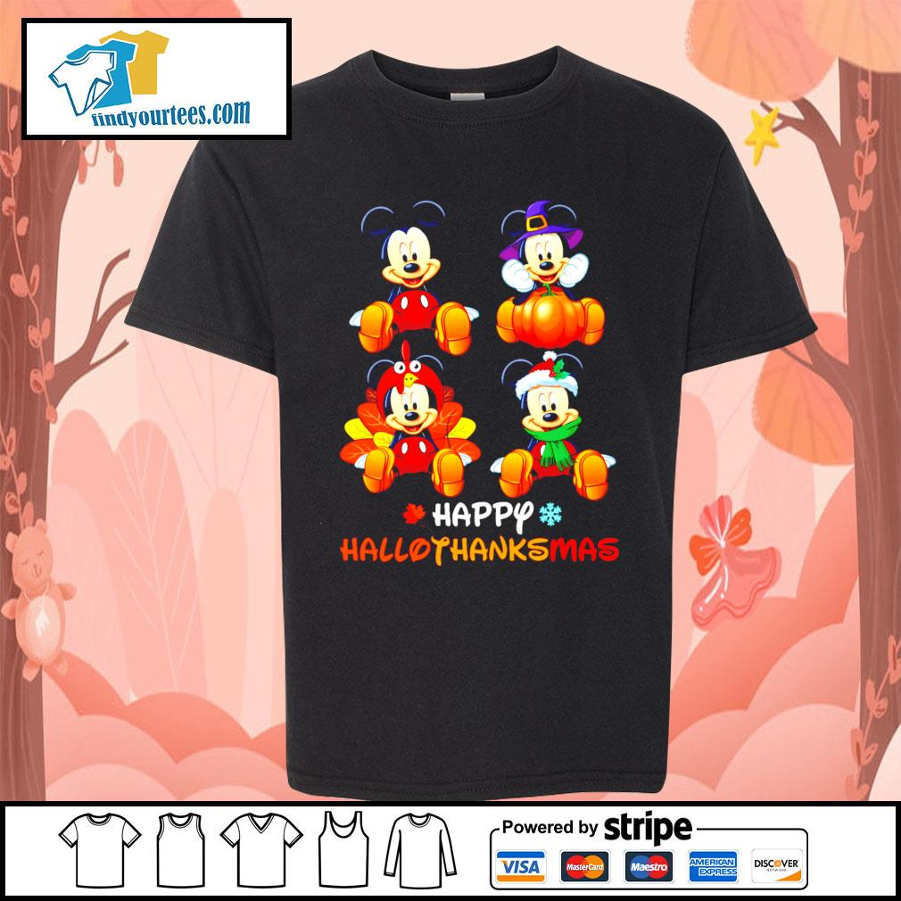 Mickey happy Hallothanksmas Halloween s Kid-T-shirt
