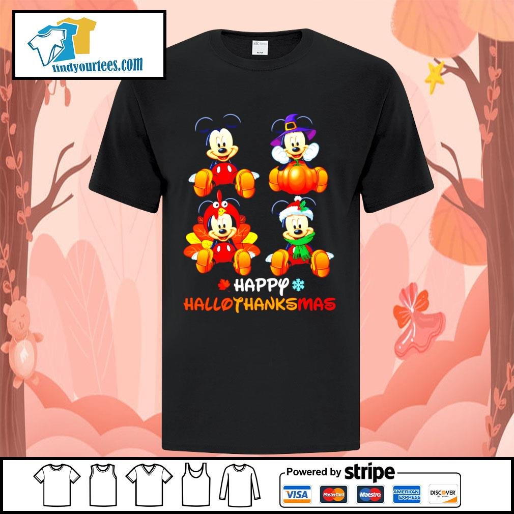 Mickey happy Hallothanksmas Halloween shirt