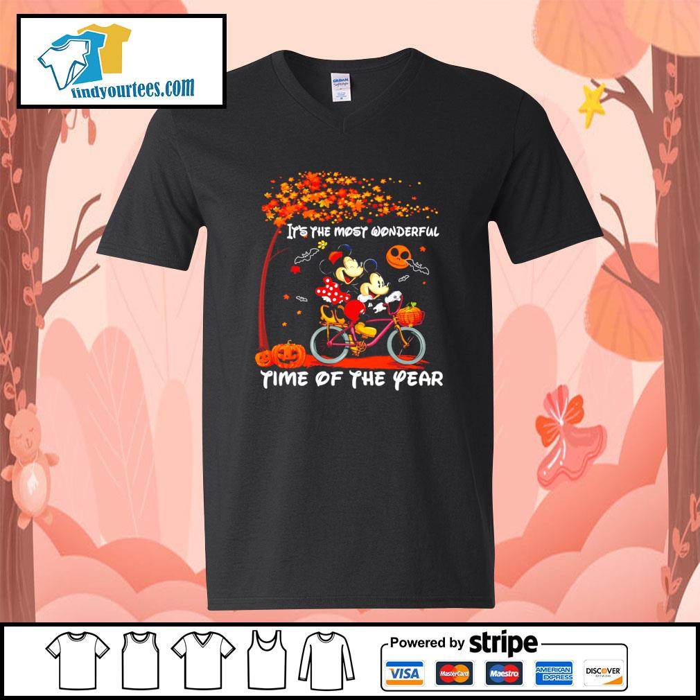 Mickey mouse It's the most wonderful time of the year Halloween s V-neck-T-shirt