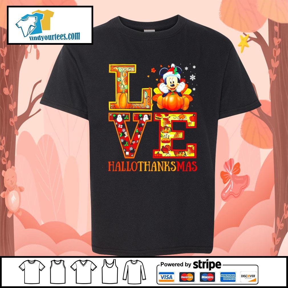 Mickey Mouse Love Hallothanksmas s Kid-T-shirt