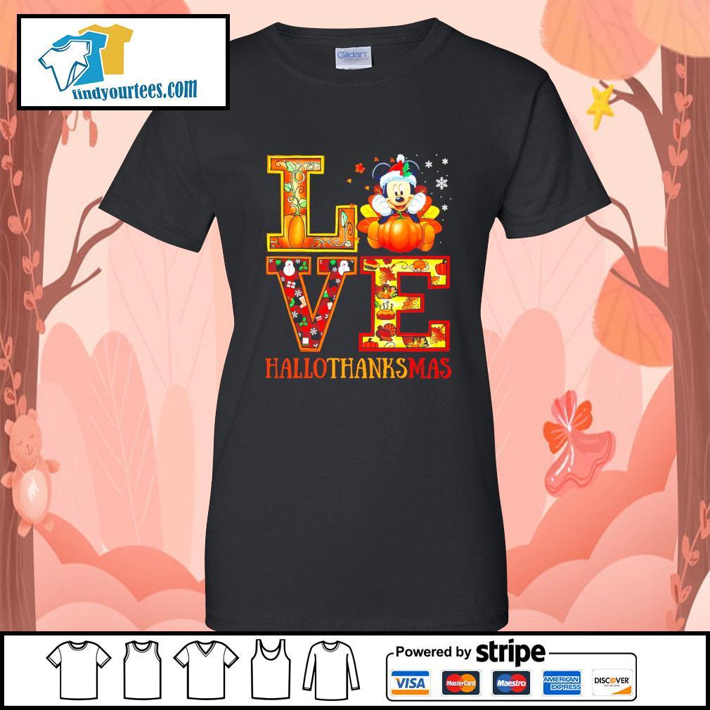 Mickey Mouse Love Hallothanksmas s Ladies-Tee