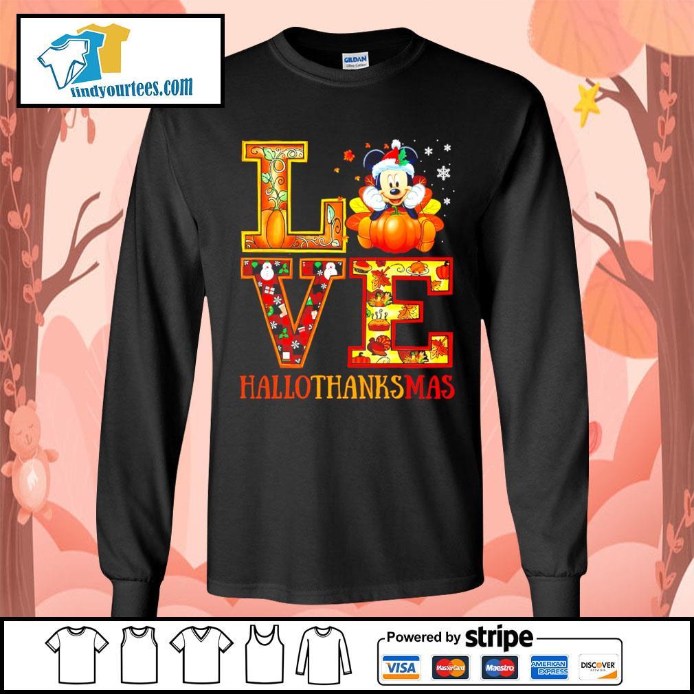 Mickey Mouse Love Hallothanksmas s Long-Sleeves-Tee