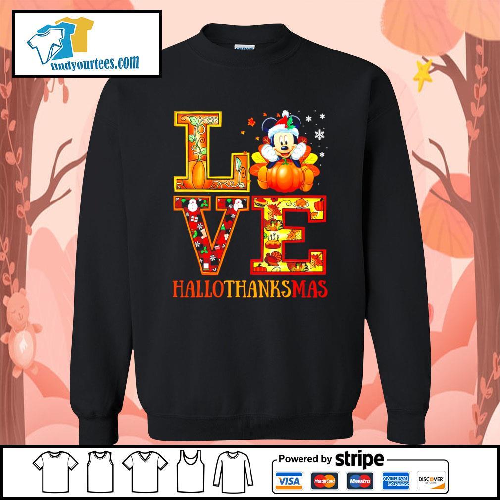 Mickey Mouse Love Hallothanksmas s Sweater