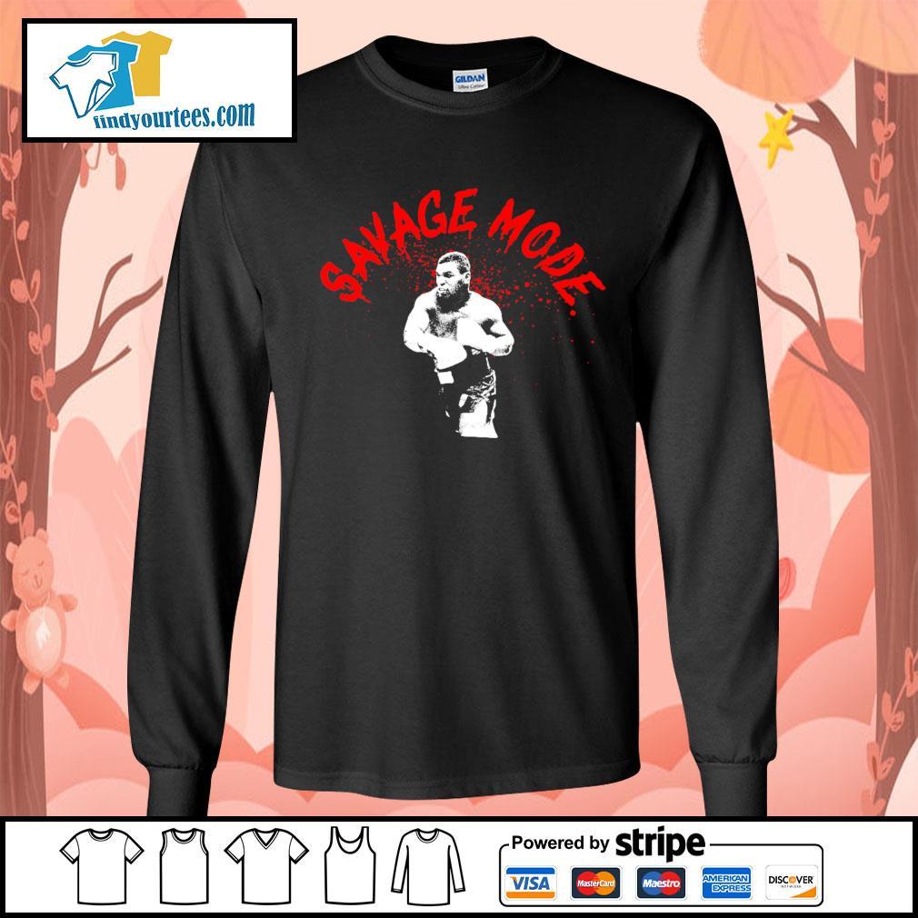 Mike Tyson Savage mode s Long-Sleeves-Tee