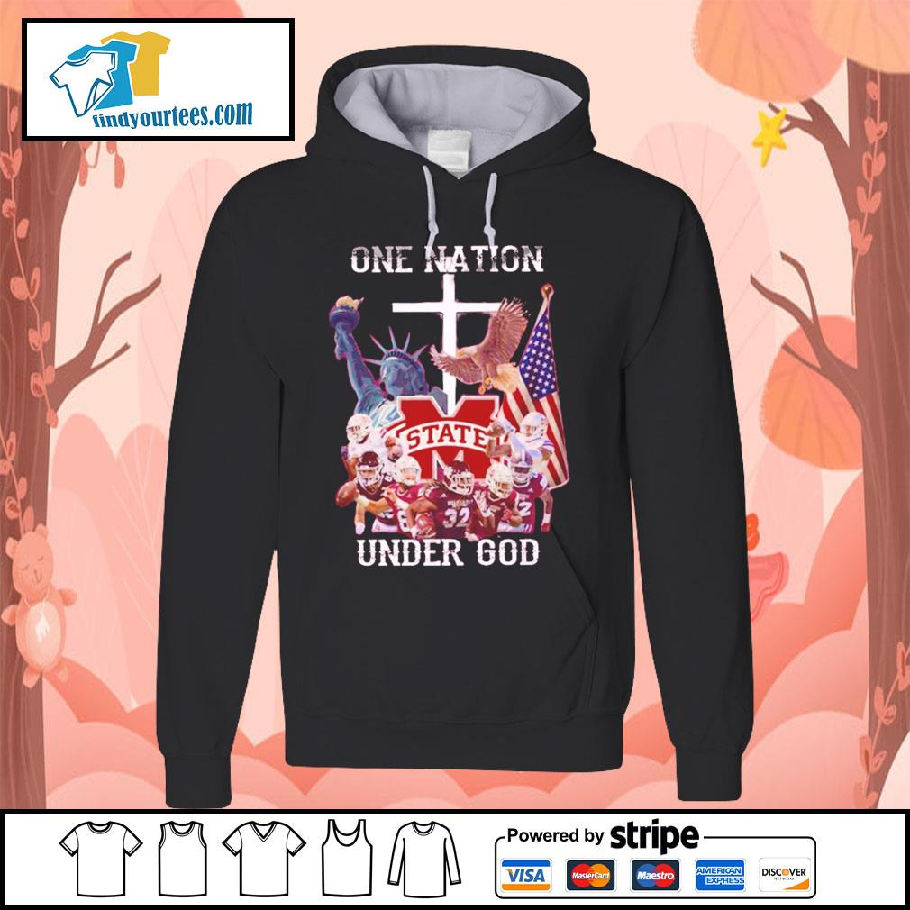 Mississippi State Bulldogs one nation under god s Hoodie