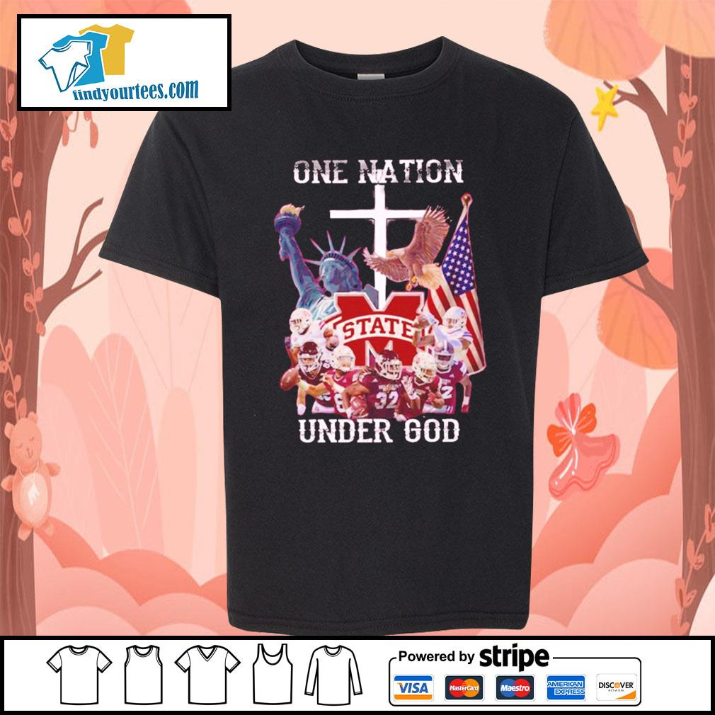 Mississippi State Bulldogs one nation under god s Kid-T-shirt