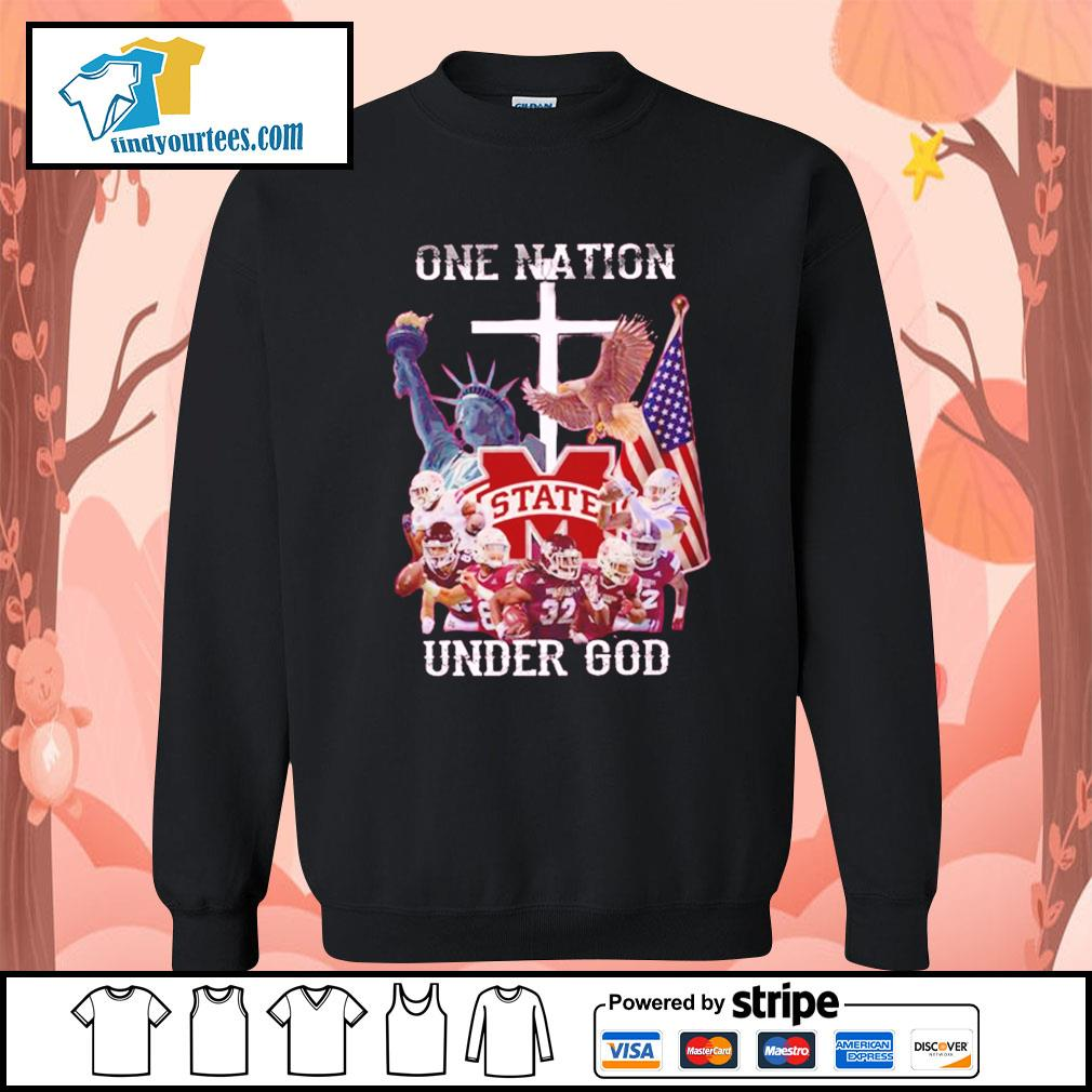 Mississippi State Bulldogs one nation under god s Sweater