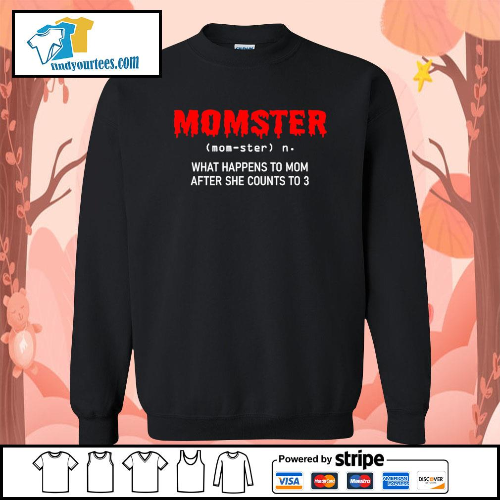 Momster what happens to mom after she counts to 3 s Sweater