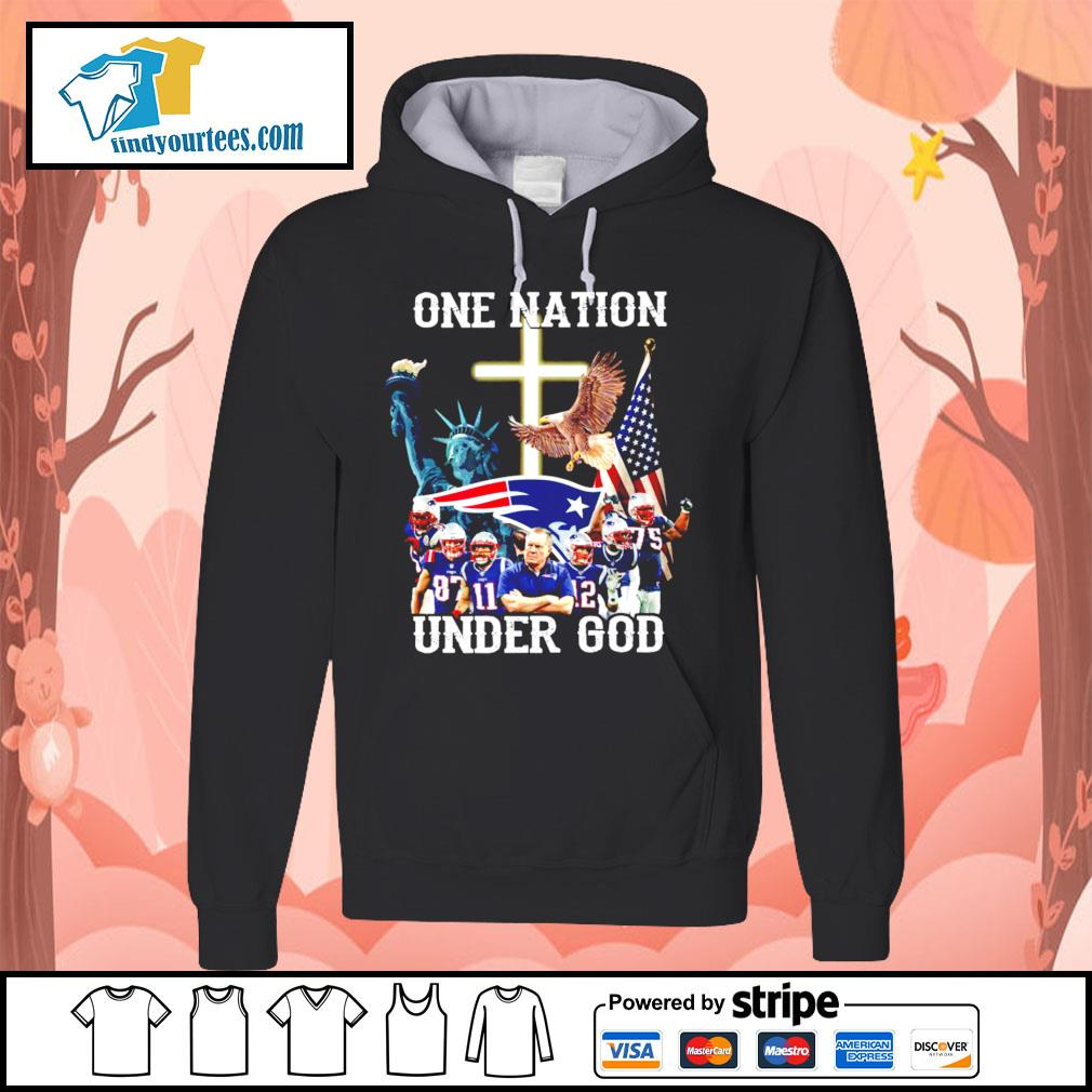 New England Patriots one nation under god s Hoodie
