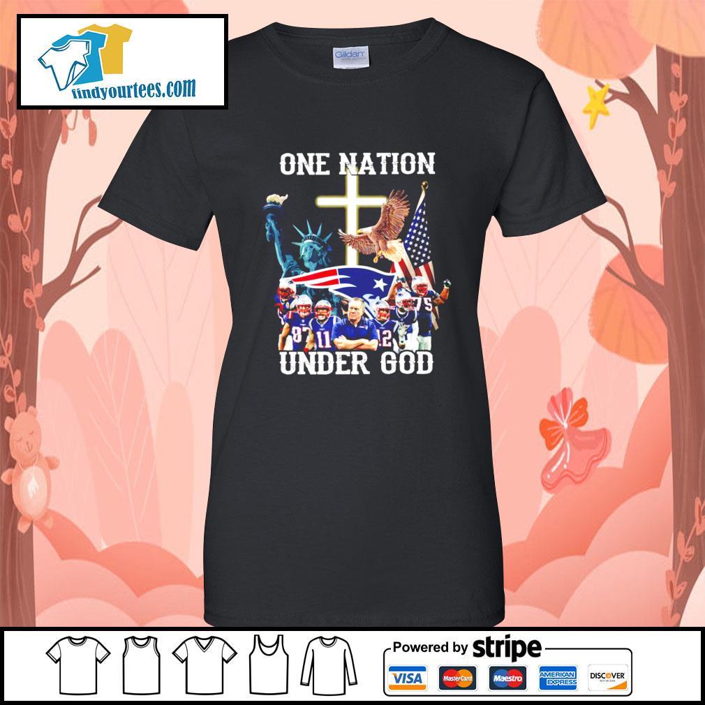 New England Patriots one nation under god s Ladies-Tee