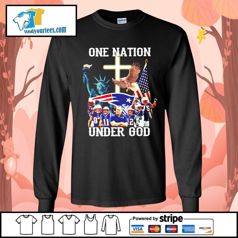 New England Patriots one nation under god s Long-Sleeves-Tee