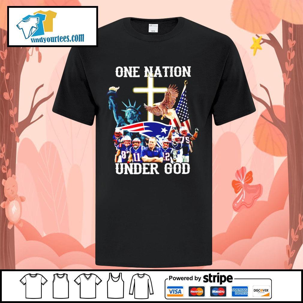 New England Patriots one nation under god shirt