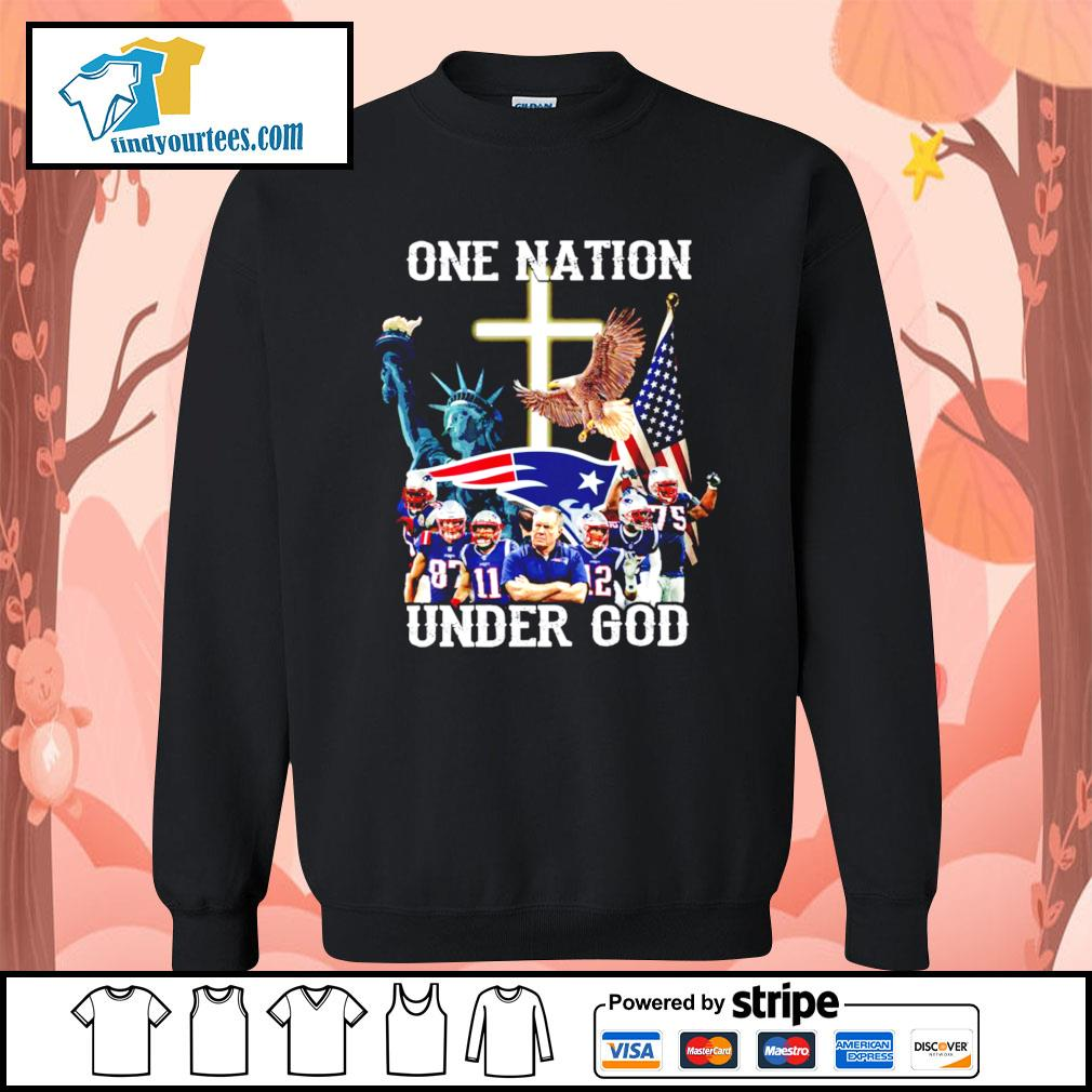 New England Patriots one nation under god s Sweater