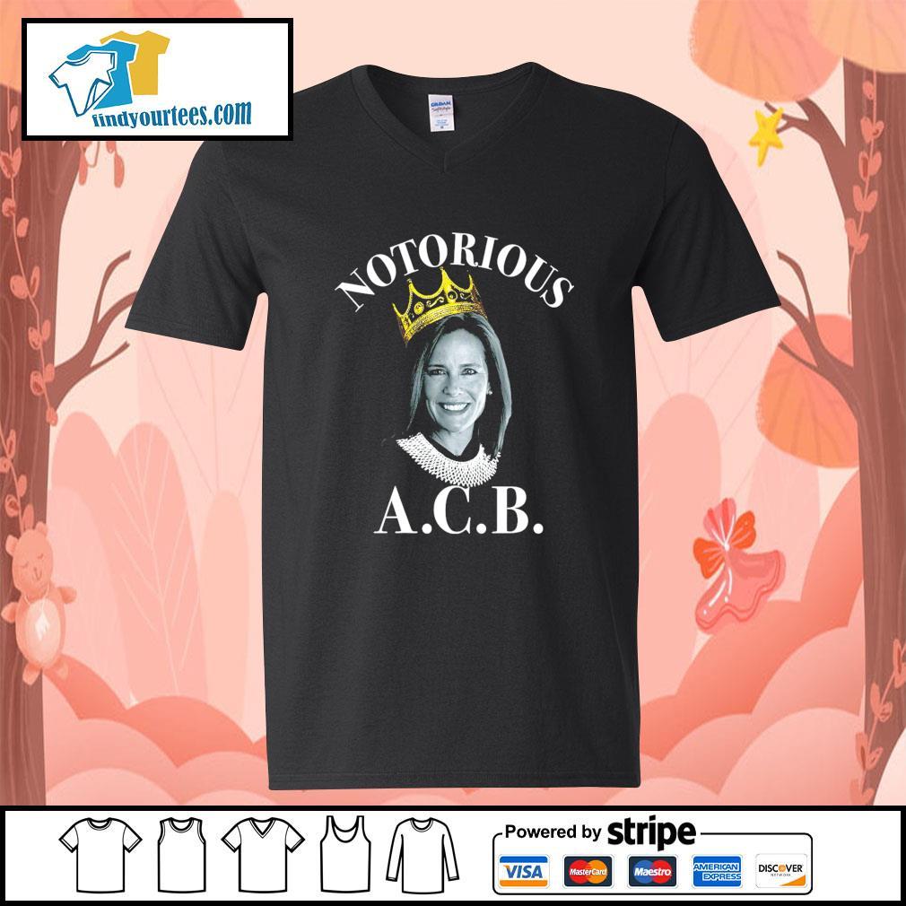 Notorious ACB Amy Coney Barrett s V-neck-T-shirt