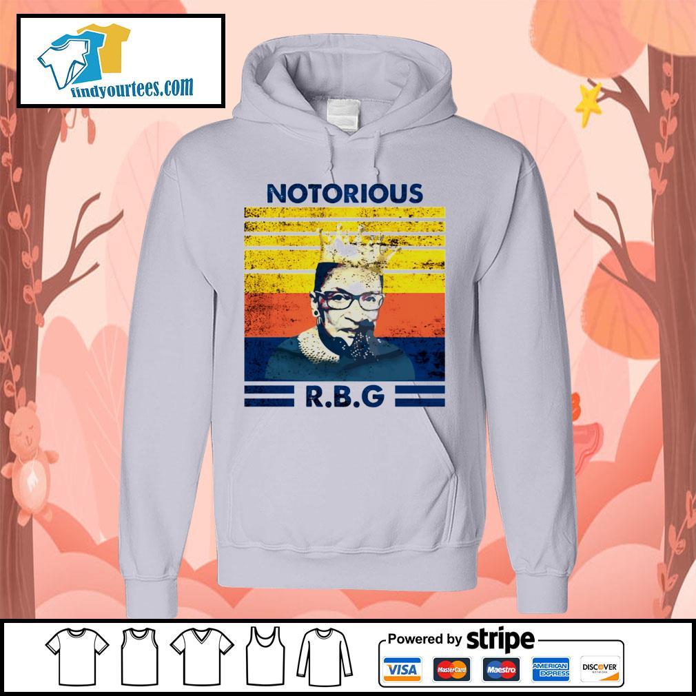 Notorious RBG Ruth Bader Ginsburg vintage s Hoodie