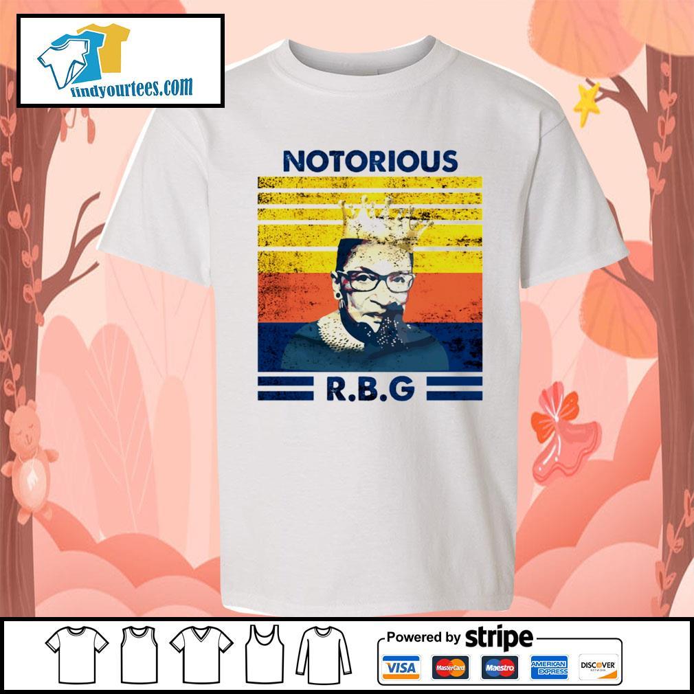Notorious RBG Ruth Bader Ginsburg vintage s Kid-T-shirt