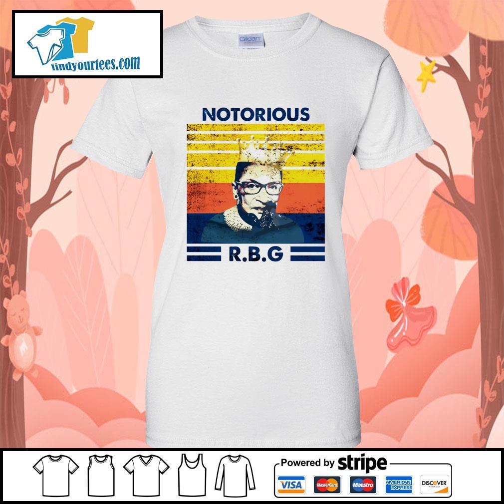 Notorious RBG Ruth Bader Ginsburg vintage s Ladies-Tee
