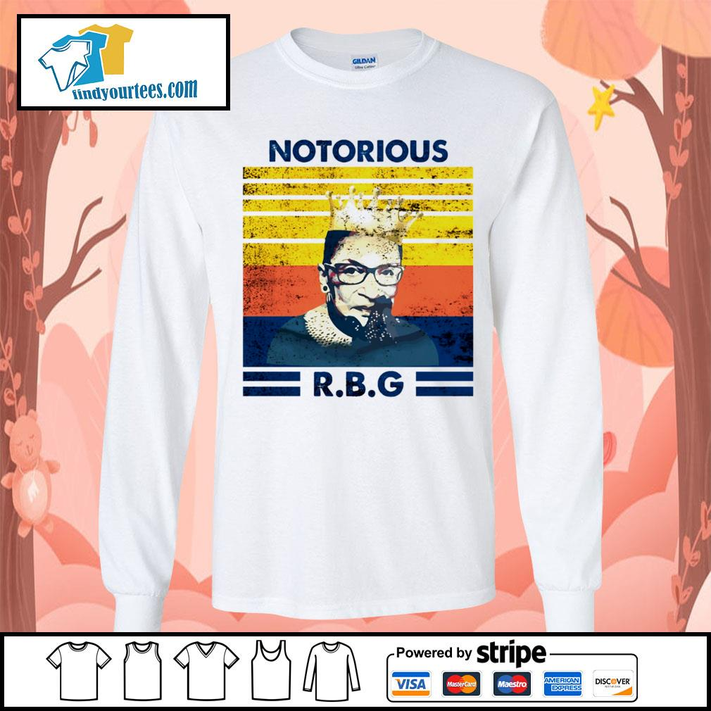 Notorious RBG Ruth Bader Ginsburg vintage s Long-Sleeves-Tee