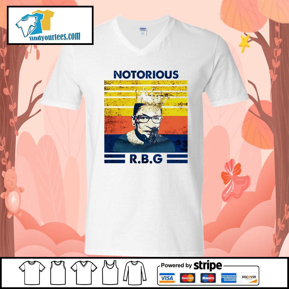 Notorious RBG Ruth Bader Ginsburg vintage s V-neck-T-shirt