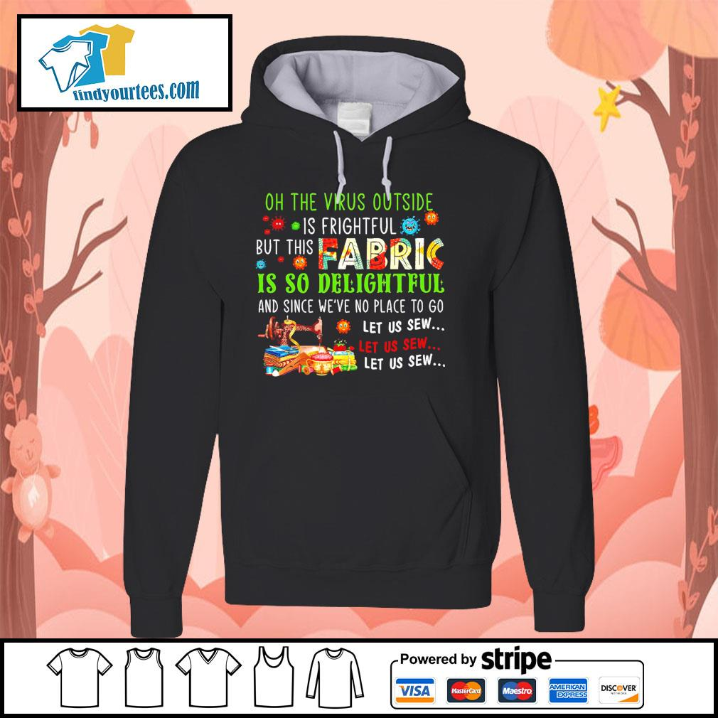 Oh the Virus outside is frightful but this fabric is so delightful s Hoodie