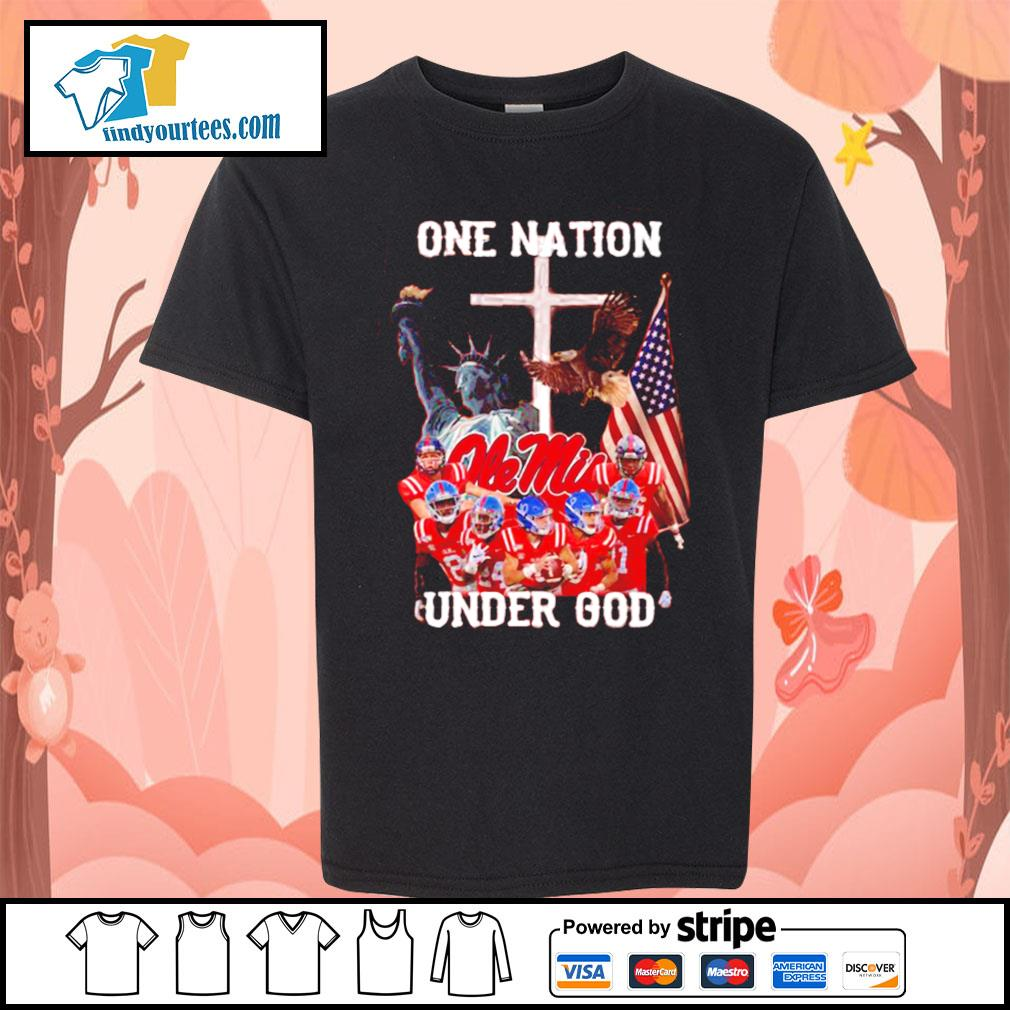 Ole Miss Rebels one nation under god s Kid-T-shirt