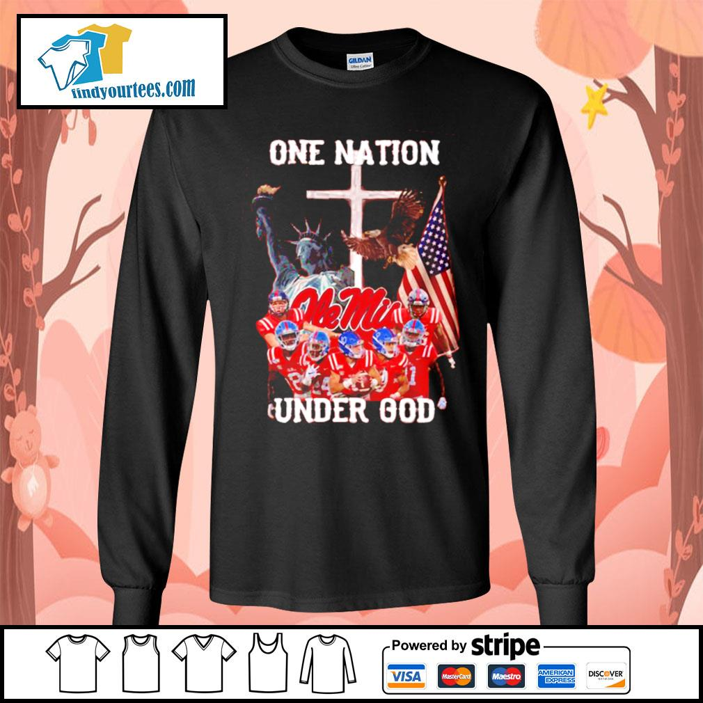 Ole Miss Rebels one nation under god s Long-Sleeves-Tee