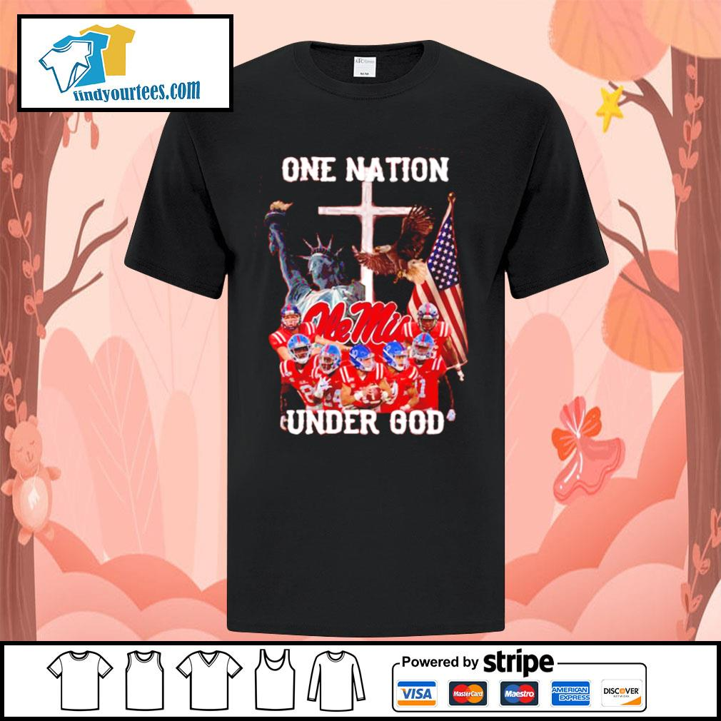 Ole Miss Rebels one nation under god shirt