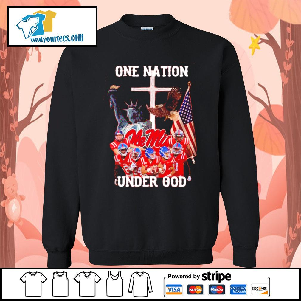 Ole Miss Rebels one nation under god s Sweater
