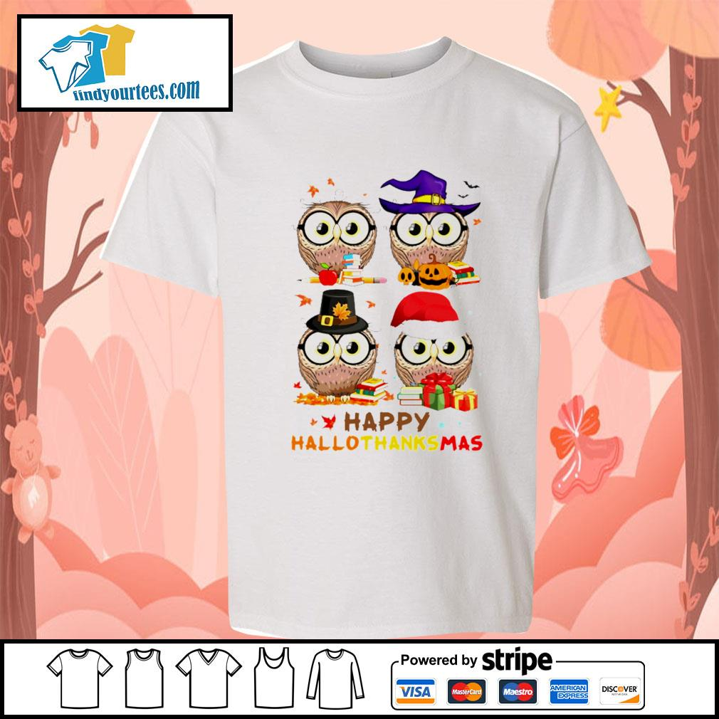 OWL happy hallothanksmas s Kid-T-shirt